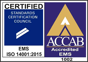 ISO 14001:2001 certified
